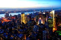 Manhattan at dusk - New York, Usa