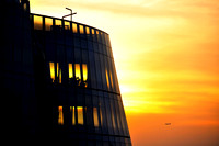 IAC Building at Sunset, New York - Architect: Frank Gehry