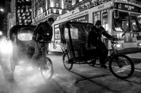 Pedicabs and steam in Manhattan - New York